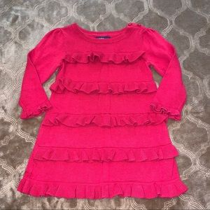Baby GAP red sweater dress with ruffles